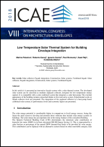 Low Temperature Solar Thermal System for Building Envelope Integration
