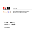 Position Paper: Solar Cooling